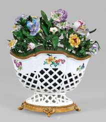 Rare table decoration in the Form of a flower basket