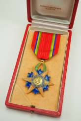 Gabon: Order of the Equator Star, Knight's Cross, in a case.