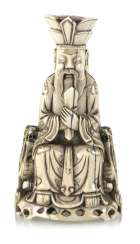 A fine ivory figure of a seated Taoist Official