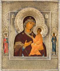 ICON OF THE MOTHER OF GOD OF TIKHVIN (TICHWINSKAJA) WITH RIZA