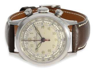 Watch: extremely rare steel Chronograph with a Central counter, Mido