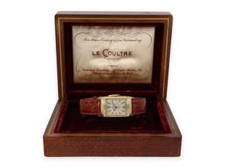 Watch: one of the earliest Jaeger Le Coultre Reverso watches from the Art Deco period, with probably the original Box, 30s