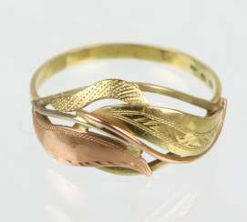 Bicolor Ring - Gelbgold/RG 585