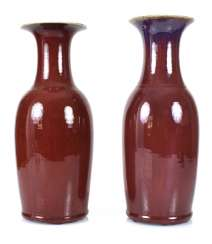 Two Vases With Ox-Blood