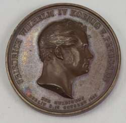 Prussia: tribute to medal of Friedrich Wilhelm IV. - Bronze.