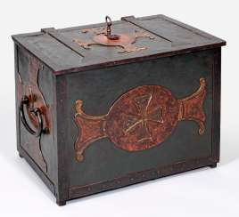 Large Baroque iron chest