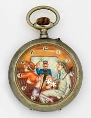 Large pocket watch with erotica