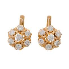 Earrings with diamonds of approx. 2.1 ct