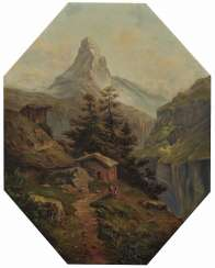 Millner, Carl. Mountain landscape with views of the Matterhorn