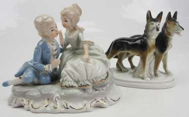 Porcelain figurine - 2 copies.