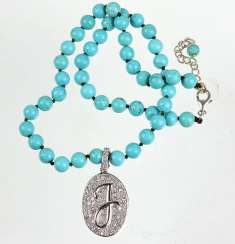 Turquoise/howlite necklace with clip attachments