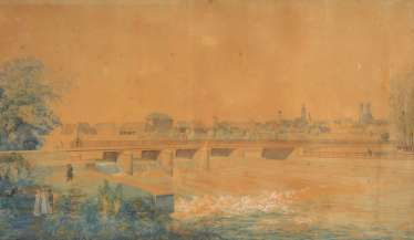 The Munich painter around 1820/30: view over d
