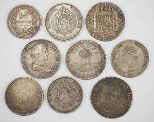 Bolivia: Collection Of Silver Coins.