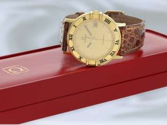 Wrist watch: high quality, elegant vintage Omega mens watch in 18K yellow Gold