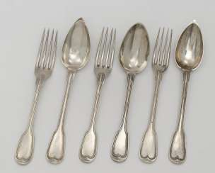32 pieces of cutlery . France, 1838 to 1919, Master PO