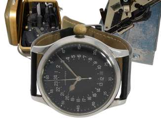 Watch: absolute rarity, unique Navigation Set, one of only 4 known to Longines pilot's watches of Ref.6630-1 and other rare navigation Instruments from the estate of a major Lufthansa pilots, with Longines master excerpt from the book, 1954