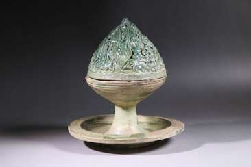 A GREEN-GLAZED BOSHAN LU HAN DYNASTY