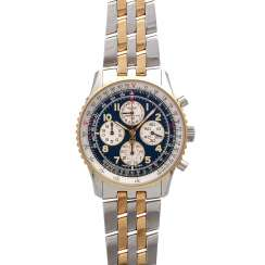 BREITLING Navitimer Airborne Chronograph men's watch, Ref. D 33030, 1990s. Stainless steel/Gold 18K.