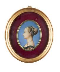 MINIATURE WITH A PROFILE IMAGE OF A RENAISSANCE LADY