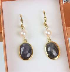 Sapphire Earrings - Yellow Gold 585