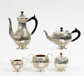 Tea and coffee service with monogram
