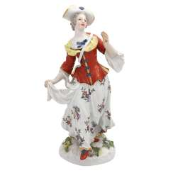 MEISSEN 'lady with the bag', after 1860.