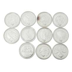 Australia - 2 silver medals and 9 x 5 dollars 2000, Queen Elizabeth II,