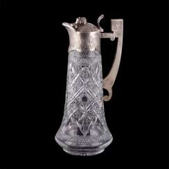 Unusual decanter in the art Nouveau style