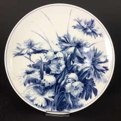 Institutional / wall plate: Meissen porcelain, decor, March, mug adorns, according to William Baring.