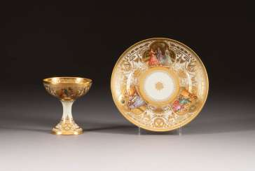 CHALICE AND BOWL WITH GALLANT SCENES