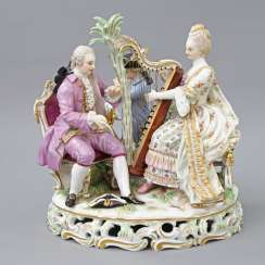 MEISSEN figure group 'The music', about 1900.
