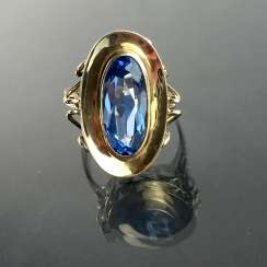 Siegfried Meyer for free Berger precious forge: ladies ring with Topaz: Yellow Gold 333, very good.