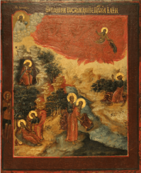 The fiery ascent of prophet Elijah