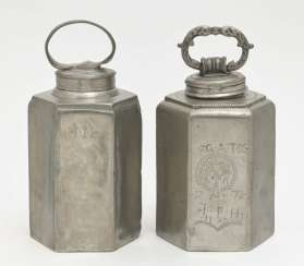 Two screw-top bottles, 19th century