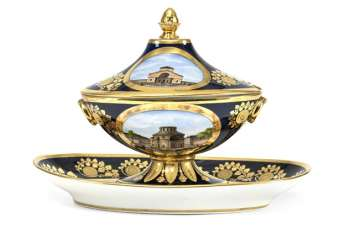 Gravy boat with Parisian city views