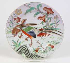 Plate with pheasant pair