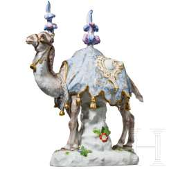 Camel in a splendid bridle, Meissen, 19th century