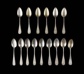 COLLECTION OF FIVE TEN DINING SPOONS