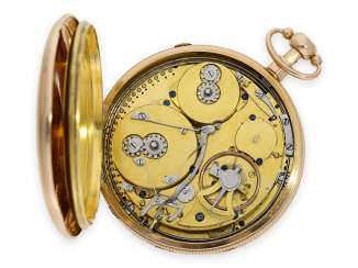 Pocket watch: extremely fine and historically interesting cylinder watch with striking mechanism and musical mechanism, preserved almost as good as new, presumably from the possession of Lieutenant-General Henry George Teesdale, Royal Artillery, Geneva, a