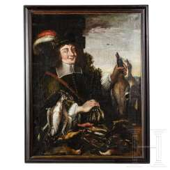 Large hunting still life - hunter with killed poultry, South German, 17th century