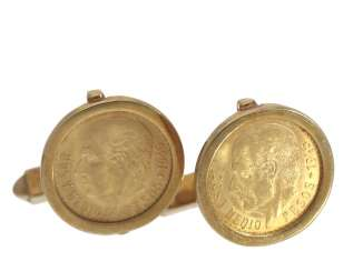 Cufflinks: vintage cufflinks with Mexican gold coins