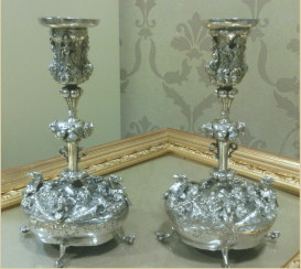 Pair of candlesticks in a neo-Baroque style