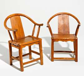 Pair of simple horseshoe chairs