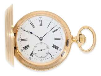 Pocket watch: important Girard Perregaux Pocket chronometer with extremely rare design features, No. 54690, CA. 1875