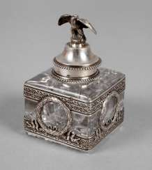 Paris ink bottle with silver mounts