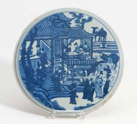 Round plate with scholars