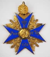 Prussia : order Pour le Mérite, the military cross with oak leaves - an exhibit merits.