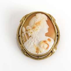 Large brooch with a shell cameo