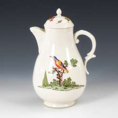 Jug with bird painting, NYMPHENBURG.