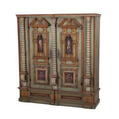 MAGNIFICENTLY PAINTED BAROQUE CABINET